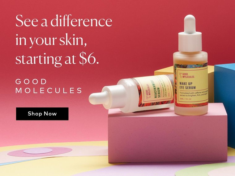 See a difference in your skin, starting at $6 – Shop Good Molecules on Beautylish