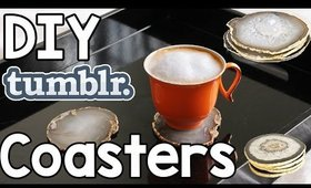 DIY Tumblr Inspired Coasters Tutorial (Gold & Agate) | OliviaMakeupChannel