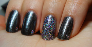 not a complicated look- i just....love this glitter.