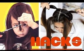★ BEST 2-Min HAIR CUTTING HACKS that ACTUALLY WORK (MY HAIR CUT how to)!  EASY HAIRSTYLES