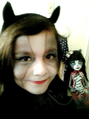 """My little sister did a monster high makeup look and she told me """"put it on beautylish"""" lol so here it is. (She's only 8 btw)"""