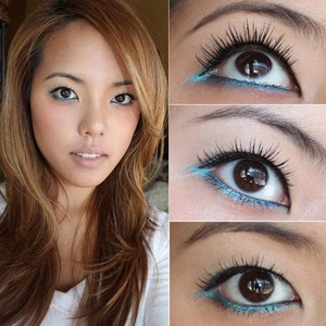 RANDOM TIP: Did you know under (bottom) falsies can be used as top lashes for a super-short, ultra-natural effect? This is perfect if you have sad, wimpy non-existent lashes like me. Here I'm wearing 501 Brown Under Lashes coated with black mascara.  Lashes from FalseEyelashesSite.com