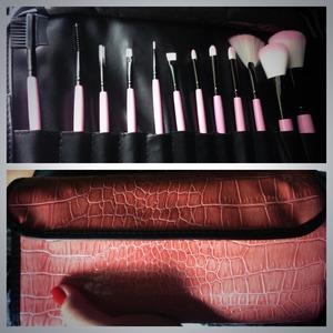 Just receives my new Bhcosmetics.com Pink Brush set! :)
