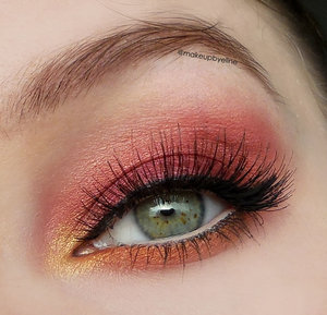 I made this look using the sleek sunset palette and red cherry lashes number #523. Follow me on instagram to see more looks I made! http://instagram.com/makeupbyeline