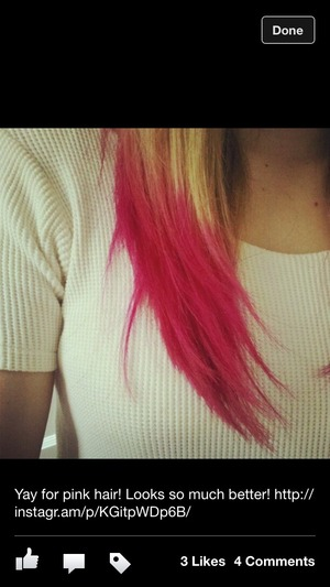 Pink color is Ink Works by Paul Mitchell