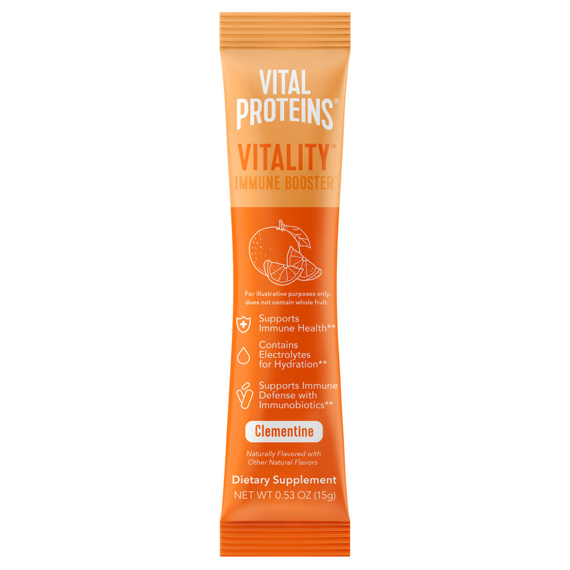 Vital Proteins Vitality Immune Booster Stick Pack Box Clementine alternative view 1 - product swatch.