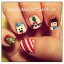 My right hand-Holiday Nail art