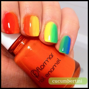 rainbow nails , nailpolish by flormar
