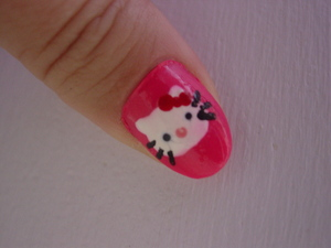 Sinful colors (SC)  in Cream pink 152 Hello Kitty - SC in snow me white, ruby ruby369, easy going 300,  kiss nail art in black