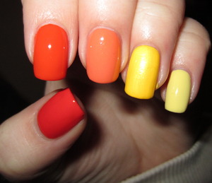 Orange and Yellow Ombre