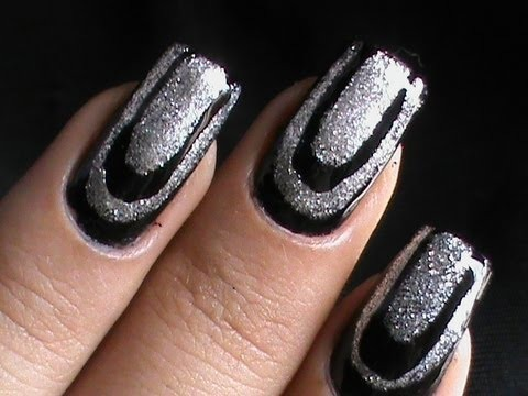 layered border nail art designs  diy how to do at home
