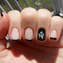Holographic Butterfly Accent Nail