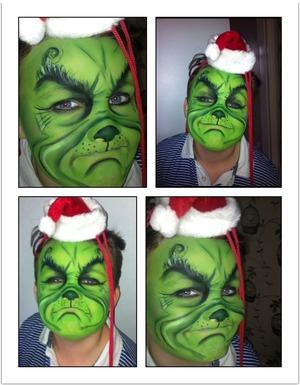 Grinch makeup halloween