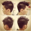 Semi Mohawk for my brother :D