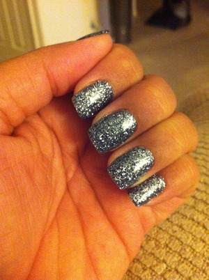 Rock Star glitter gel nails.  Oh yeaaah!