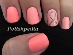 We support the cause!  Watch the Video Tutorial @ http://polishpedia.com/ombre-nails-for-breast-cancer-awareness.html
