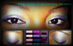 Urban Decay; First time applying makeup on my cousin...I cant do it to myself but on others I can :) Thank God for that