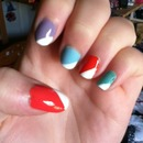 Pastels and brights with diagonal tips