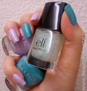 Love & Beauty Lavender/Orchid, Love & Beauty Sky Blue/Clear Skies, ELF Twinkle