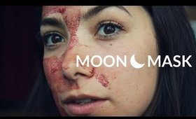 period blood facial #MOONMASK ☾
