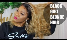 Blonde Hair For Brown Girls | Lwigs 360 Lace wig
