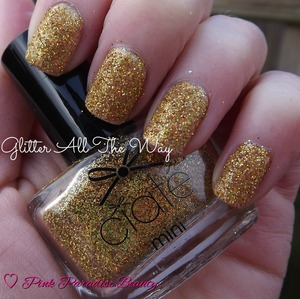A Gold Holographic pure glitter from the Ciate Minimanimonth Advent Calender