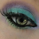 Super bright.. blues, purples, greens