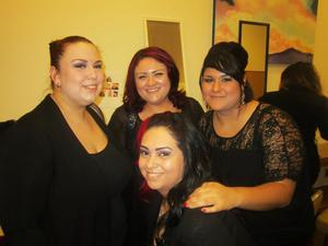me and my friends backstage at the fashion show