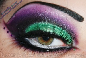 Halloween inspired eye makeup look.