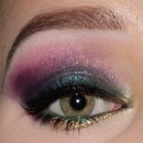 Colorfull smokey eyes