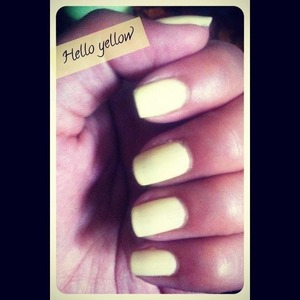 My favorite pastel yellow polish!