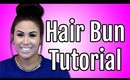 Hair Bun Hairstyles Tutorial - How To Use A Sock, Donut, or Bun Maker | Kim Kardashian Look