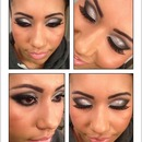 Silver smokey eyeshadow