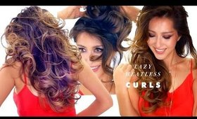 LAZY HEATLESS CURLS Overnight Hairstyle   How to Grow Your Hair Faster Longer Thicker