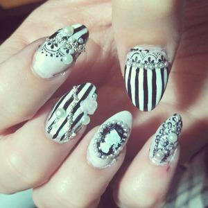 cameo Victorian nails