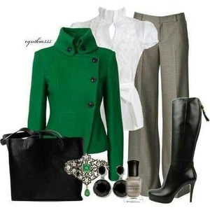 Love the top combo with the dress pants great look every sophisticated