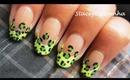Neon Leopard print Nail design tutorial