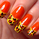 Bright Leopard Print Nails