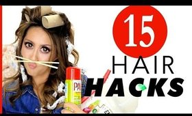 15 ★ Smart B*tches HAIR HACKS every GIRL Should KNOW!   MakeupWearables Hairstyles