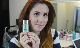 CLINIQUE REDNESS SOLUTIONS FOUNDATION FIRST REACTION AND REVIEW