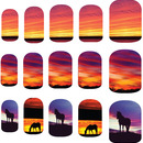Ride Into The Sunset Nail Art Decals