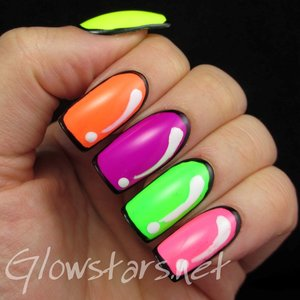Read the blog post at http://glowstars.net/lacquer-obsession/2014/06/fingerfoods-theme-buffet-cartooncomic-nails/