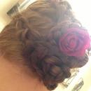 two braids side bun
