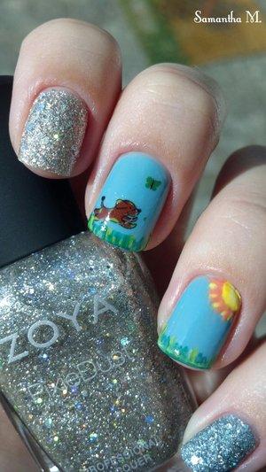 Lovely dog nail art :)