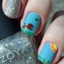 Dog nail art.