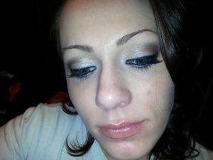 natural smokey eye with false eyelashes and nude lips