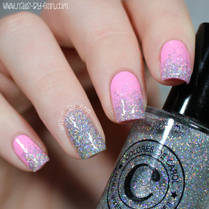 Read more on my blog here: http://www.nails-by-erin.com/2015/02/colores-de-carol-valentines-day-gift.html  And watch my 15 second glitter gradient tutorial here: https://instagram.com/p/zdY2jSMJx9/?taken-by=nails_by_erin
