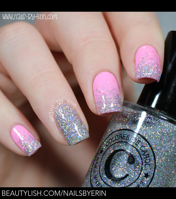 Pink and Silver Glitter Gradient Nails | Erin M.\'s (nailsbyerin ...
