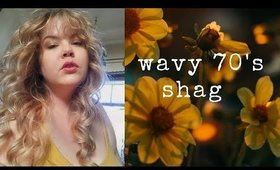 70's shag for fine natural wavy hair | Curly Girl Method Wash Day