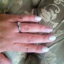 white and glitter nails